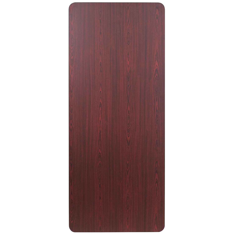 Amazon.com: Mesa rectangular de nogal de melamina laminado ...