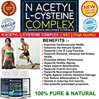 Premium N-Acetyl-L-Cysteine (NAC) Supports Healthy Liver,Lung & Respiratory Functions,★ Supports the Immune System,★ Supports Cardiovascular System and Overall Health.★ With Vitamin D3, Vitamin B6 ,Zinc, Magnesium etc.★ Potent and high quality for maximum impact.★ Made in the UK