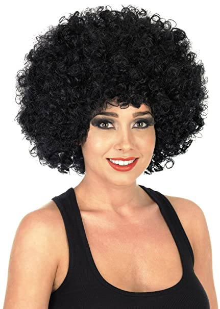 Funky Black Afro Wig Mens Ladies Clowns Fancy Dress Accessory