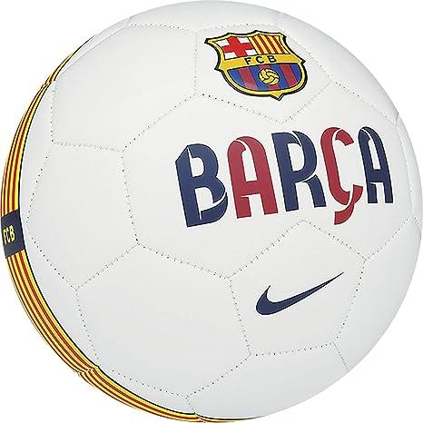 Nike FCB Supporters Ball - Balón de fútbol, Color Blanco, Talla 4 ...