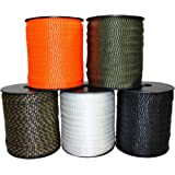 2000 FT USA Made 6000 Lb 1 Pull Tape//Mule Webbing Many Strengths and Lengths Available