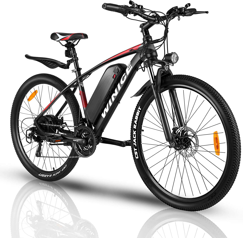 VIVI Bicicleta Eléctrica 350 W, Bicicleta Eléctrica de Montaña con Batería Extraíble 36 V/10,4 Ah, Velocidad Máxima 32 km/h, 21 Velocidades, Kilometraje de Recarga hasta 40 km, 27.5 Pulgad