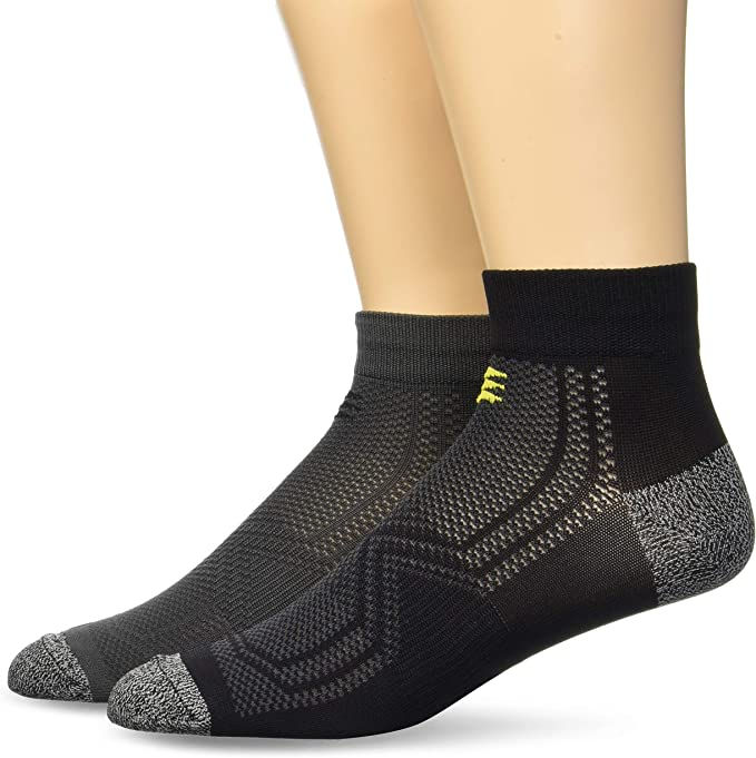3 Pairs PowerSox Mens Apexpro Low Cut Socks with Moisture /& Odor Control
