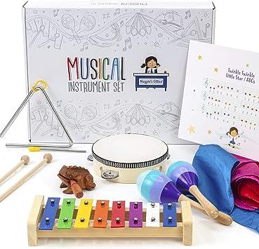 Magpie's Office Children's Wooden Musical Instrument Set - in Tune Glockenspiel (Xylophone), Mara...