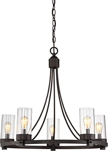 Agave Oil Rubbed Bronze 5-Light Candle-Style Chandelier