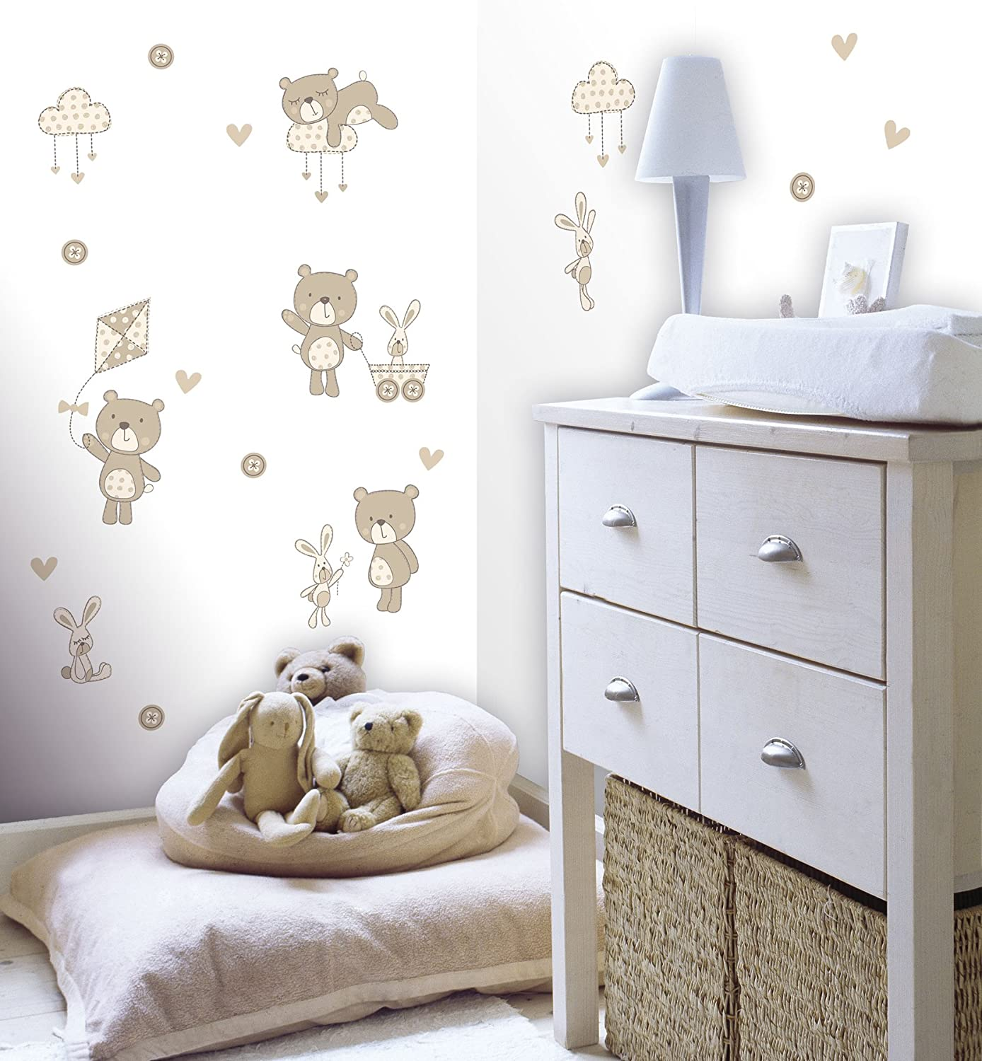 Fun4walls Ws40260 Bear And Boo Neutral Wall Stickers Amazon