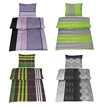 Baumwolle Biber Bettwäsche In 4 Designs 4 Tlg Set 2x 135x200 2x