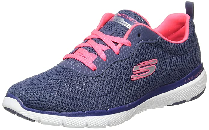 Skechers Flex Appeal 3.0 Sneakers Damen Blau/Rosa