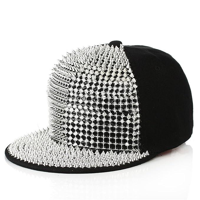 Botia Hombre Mujer Sequins Gorra de béisbol Hip Hop Caps Street Flat Protector Solar Sombrero para el Sol Gorras Snapback Ajustables: Amazon.es: Ropa y ...