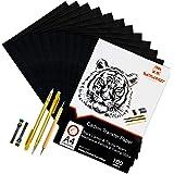 Raimarket 105 Pcs includes 100 Carbon Paper Black,5 Tracing Papers, 2 Mechanical Pencils & 1 Embossing Stylus Set for…