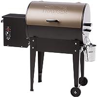 Traeger Smoker Maxi Bronze Stahl Räuchergrill Garten Camping Balkon ✔ Rollen ✔ rund ✔ rollbar ✔ Stand ✔ Grillen mit Holzkohle ✔ mit Station ✔ mit Rädern