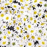 JZK 100 Margherita gerbera bianca finta fiorellini finti bomboniere coriandoli decorazione tavola matrimonio cerimonia Natale fiore artificiale corolla fiore stoffa