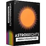 "Astrobrights Mega Collection, Colored Paper,""Joyful"" 5-Color Assortment, 625 Sheets, 24 lb/89 gsm, 8.5"" x 11"" - MORE SHEETS!"