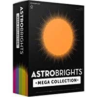 "Astrobrights Mega Collection, Colored Paper,""Joyful"" 5-Color Assortment, 625 Sheets, 24 lb/89 gsm, 8.5"" x 11"" - MORE…"