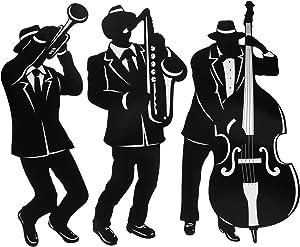 Jazz Trio Silhouettes (3/Pkg)