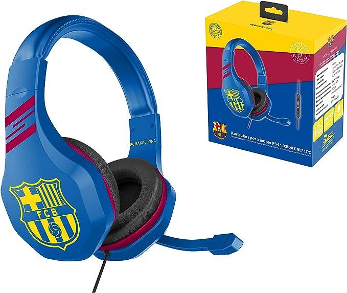 FC Barcelona Auriculares gaming accesorio gamer para PS4, PS4 Pro, Xbox One, PC: Amazon.es: Videojuegos