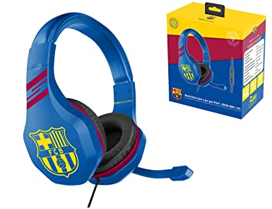 FC Barcelona Auriculares gaming accesorio gamer para PS4, PS4 Pro, Xbox One, PC