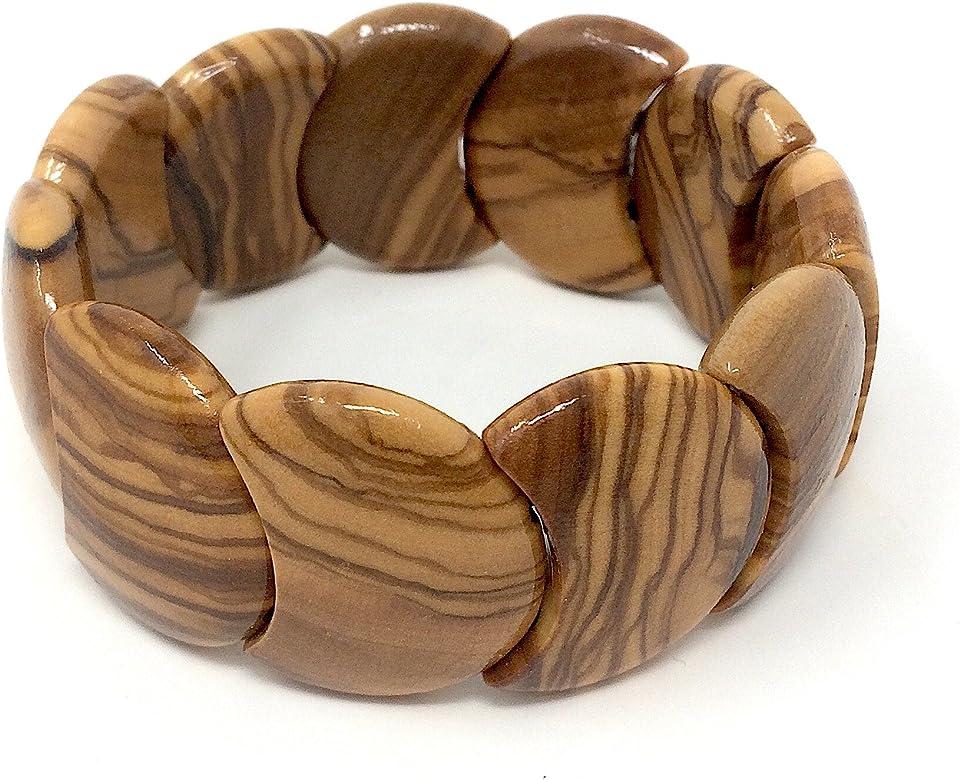 bagusto Pulsera de madera de olivo - hecho a mano en España ...