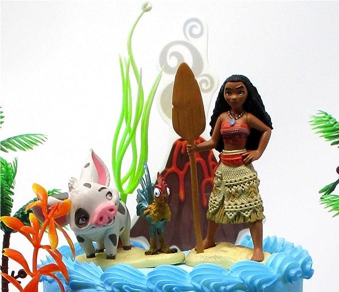 Amazon.com: Conjunto de decoración de tortas de MOANA ...