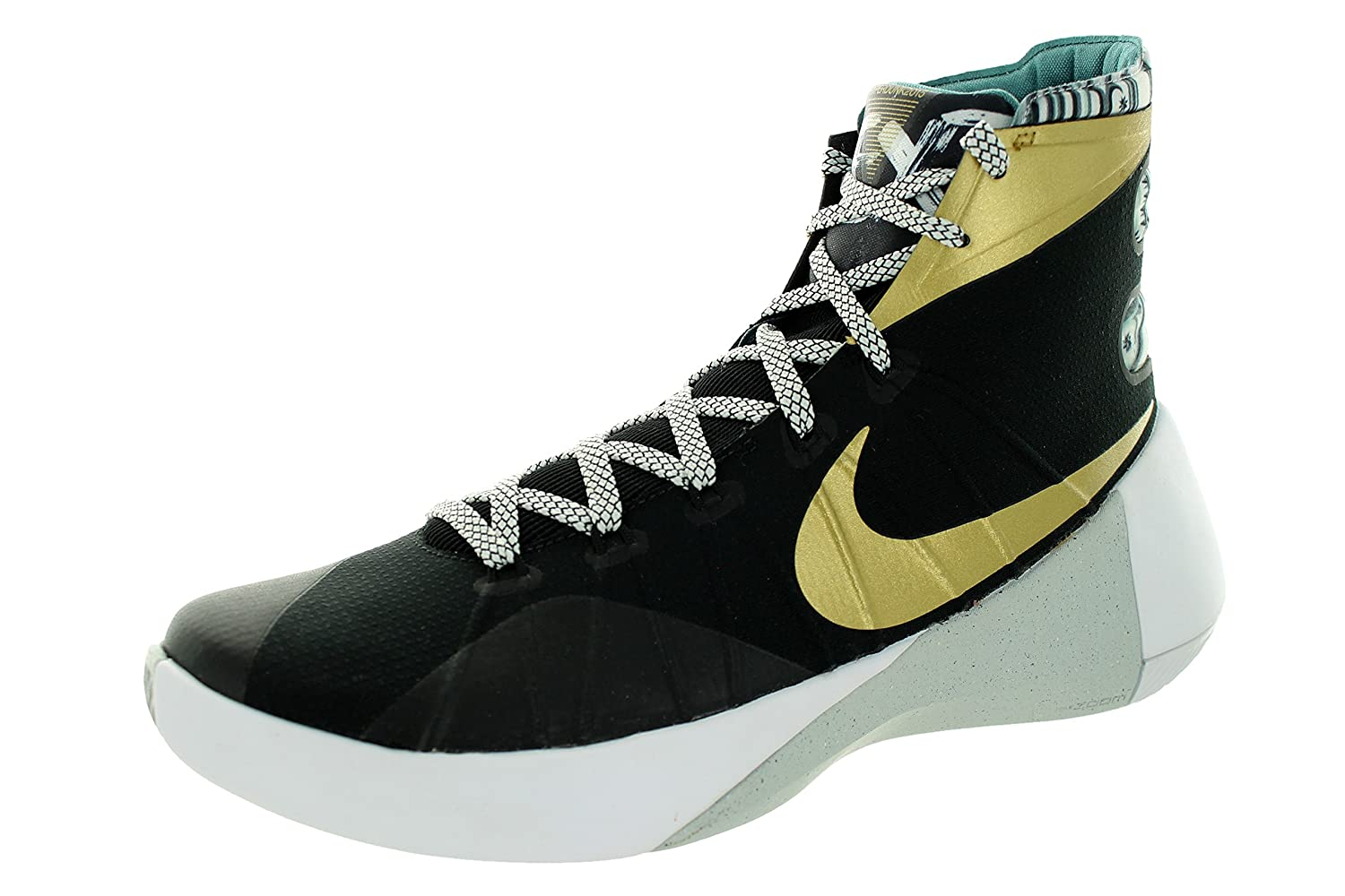 purchase cheap 4f62d f4f0f Nike Hyperdunk 2015 Lmtd Blk Mtllc Gld Lt Wld Mng Grn H Basketball Shoe 10  Men Us  Amazon.co.uk  Sports   Outdoors