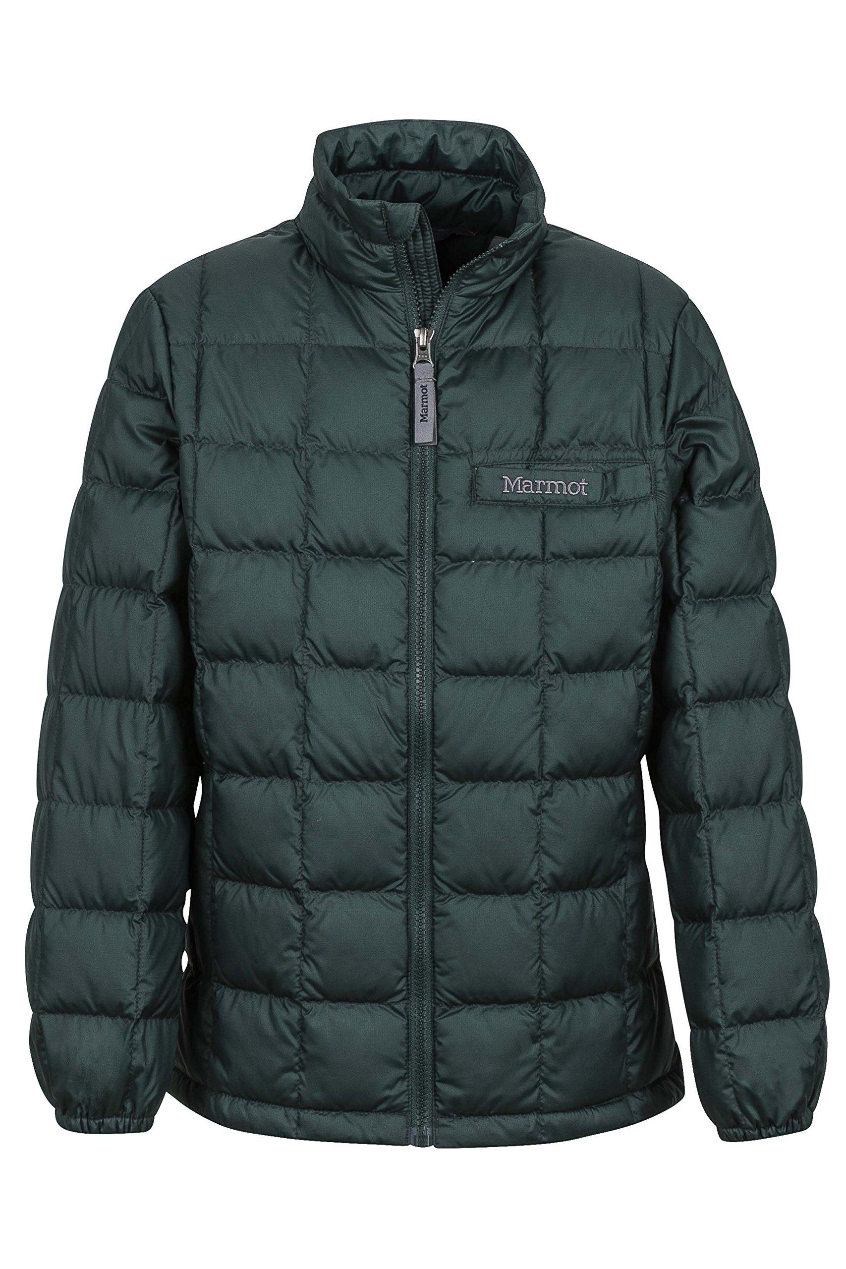 Marmot Ajax Boys' Down Puffer Jacket, Fill Power 600, Dark Spruce, X-Large by Marmot