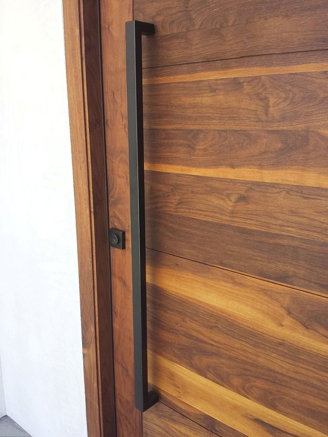 166 Matt Black Modern Stainless Steel Sus304 Entrance Entry Commercial Office Store Front Wood Timber Glass Garage Commercial Aluminum Door Pull Push Handles Double-sided (48 Inches /1200x25x38mm)