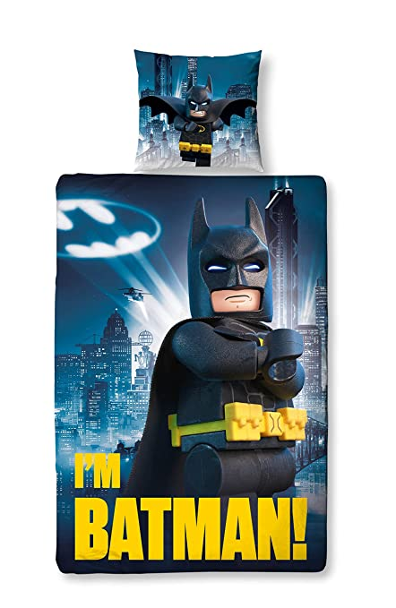 Lego Batman Parure De Lit Enfant Motif Movie 135 X 200 Cm 80 Cm X