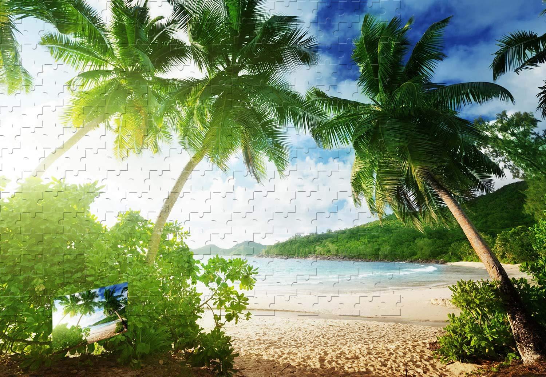 【即納&大特価】 PigBangbang,20.6 - X 15.1インチの木製 - トロピカルビーチヤシの木 PigBangbang,20.6 砂海岸雲 B07HY6N1CN - 500ピースジグソーパズル B07HY6N1CN, 家具と雑貨 Bigmories:010693f7 --- sinefi.org.br