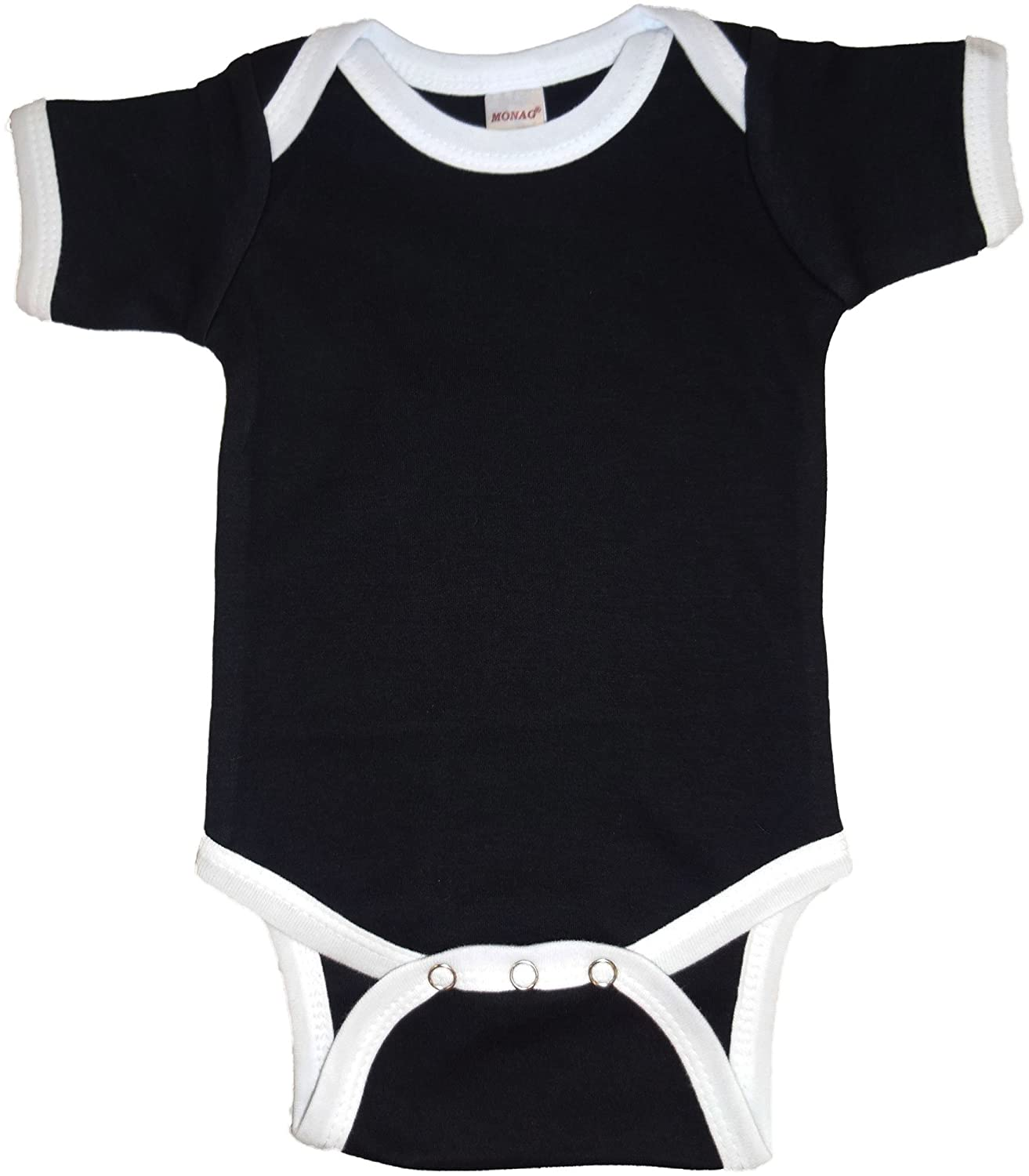 Amazon Black Baby esie With White Trim Infant And Toddler