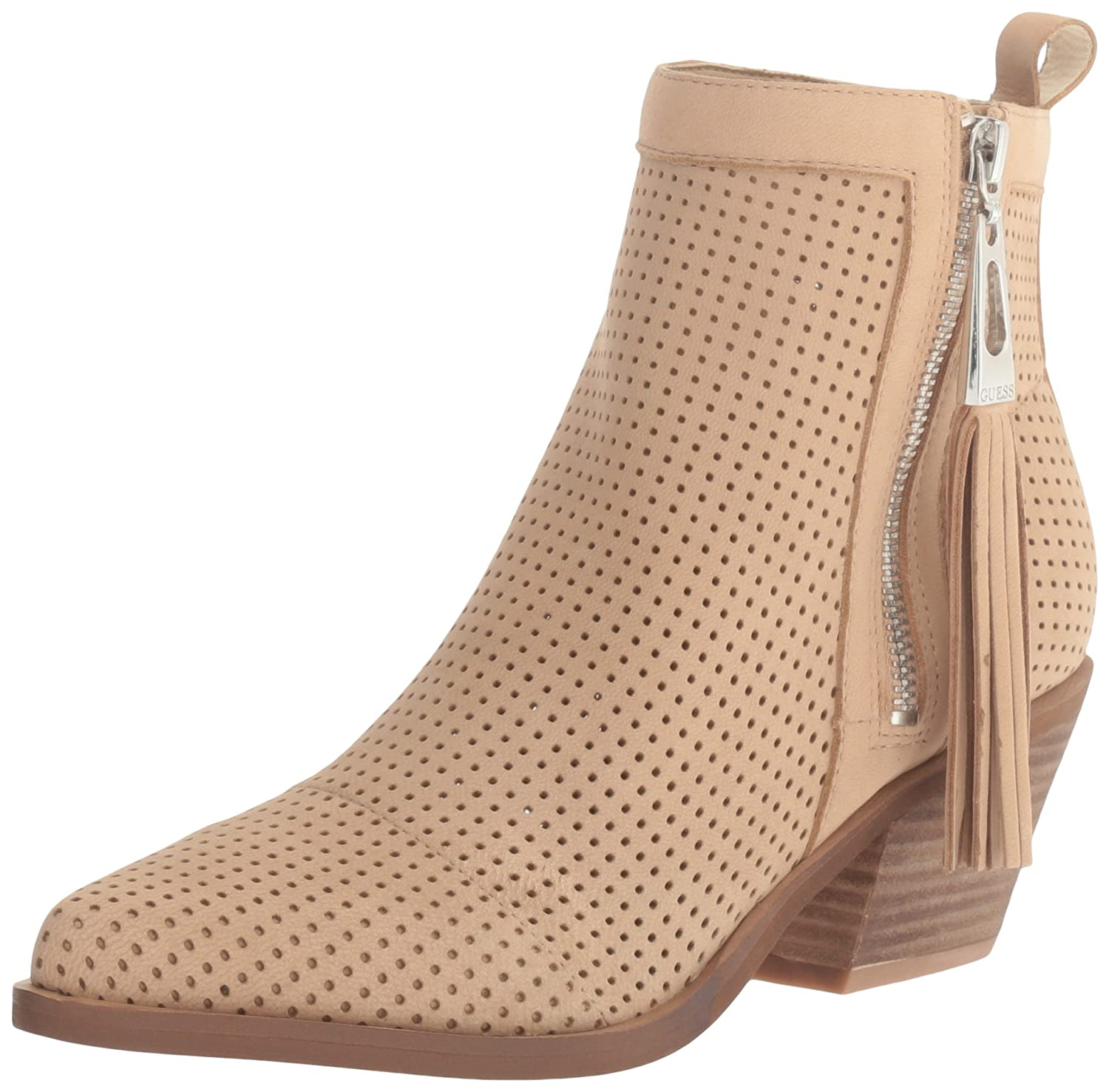 GUESS Women's Talzay Ankle Bootie Natural
