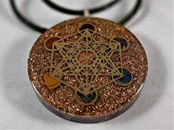 Amazon metatrons cube merkaba seven chakras with crystals metatrons cube merkaba seven chakras with crystals stones orgone pendant generator energy accumulator emf protection aloadofball Choice Image
