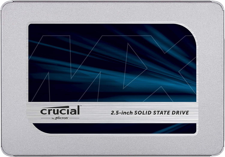 Crucial MX500 CT500MX500SSD1 - Disco Duro Sólido Interno SSD de 500 GB (3D NAND, SATA, 2.5 pulgadas)