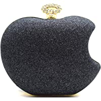 Tooba Handicraft Party Wear Cute Apple Box Clutch Bag Purse For Bridal, Casual, Party, Wedding