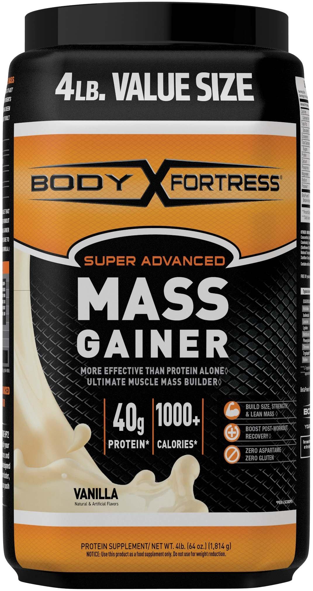 Body Fortress Super Advanced Mass Gainer, Vanilla, 4 Pounds