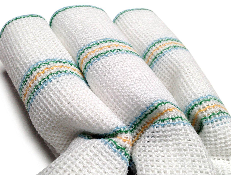 Linensrange White Regency Large Washing Up Dish Clothes, Pack of 5