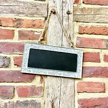 Antikas - pizarra tiza pequeña puerta de jardín - pizarra ...
