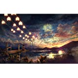 Becko US Puzzles 1000 Jigsaw Puzzle 1000 Pieces for Kids and Adults - Sky Fireworks in Summer