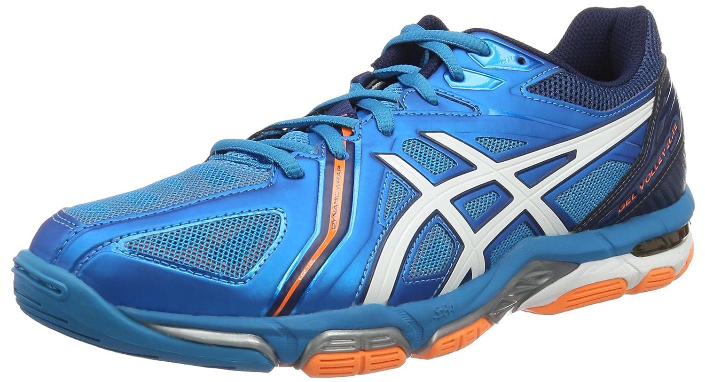 Bleu (bleu Jewel blanc Hot Hot Orange) ASICS Gel Volley Elite 3, Chaussures de Volleyball Homme  meilleure mode