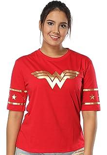 b511336786ade Justice League Wonder Women Golden Foil T-Shirt – Short Sleeved Women