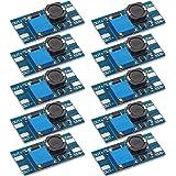 Frienda 10 Pieces MT3608 DC-DC Boost Converter 2A Adjustable Step Up Module Voltage Regulator Board Input Voltage 2V-24V to 5