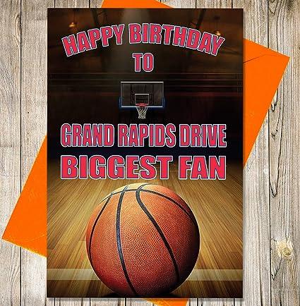 Baloncesto Tarjeta de cumpleaños - Grand Rapids Disco ...