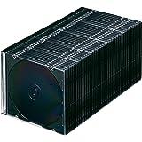 サンワサプライ 1枚収納×50 スリムBD DVD CDケース マットブラック FCD-PU50MBK