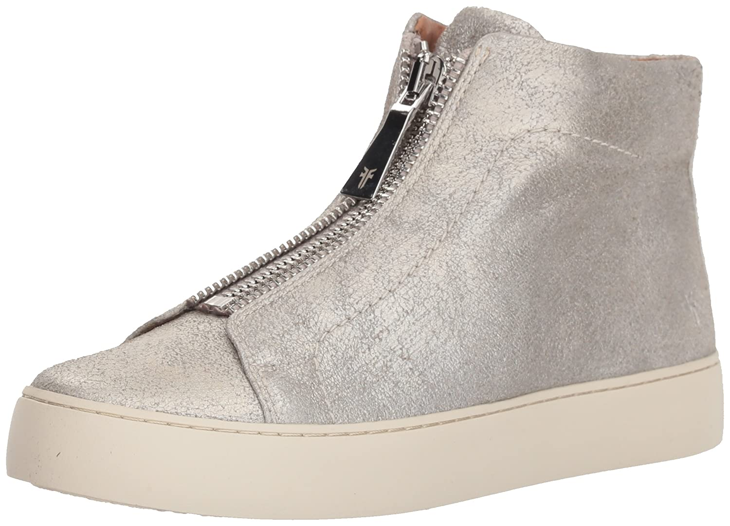 FRYE Women's Lena Zip High Fashion Sneaker B07215R33M 9.5 B(M) US|Silver
