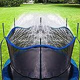 Bobor Trampoline Sprinkler for Kids, Outdoor Trampoline Backyard Water Park Sprinkler Fun Summer Outdoor Water Toys for Boys