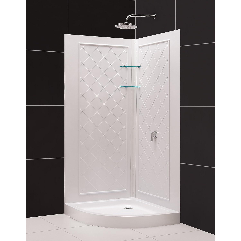 """DreamLine Solo 36 3 8"""" by 36 3 8"""" Frameless Sliding Shower Enclosure"""