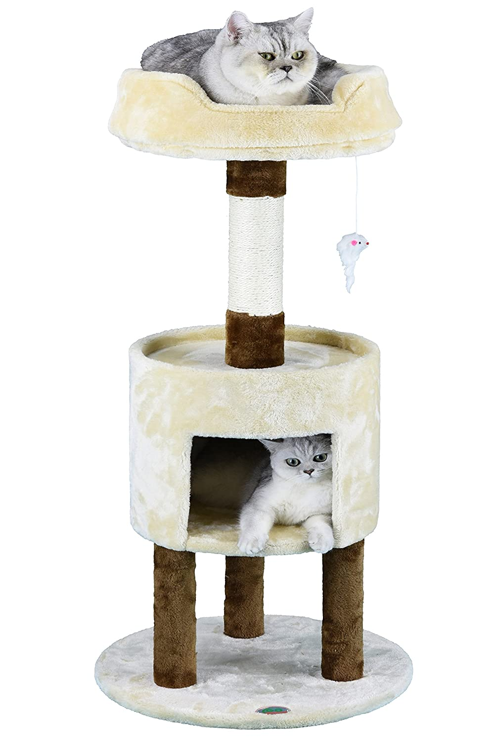 Go Pet Club Tall Brown & Beige Cat Tree, 40