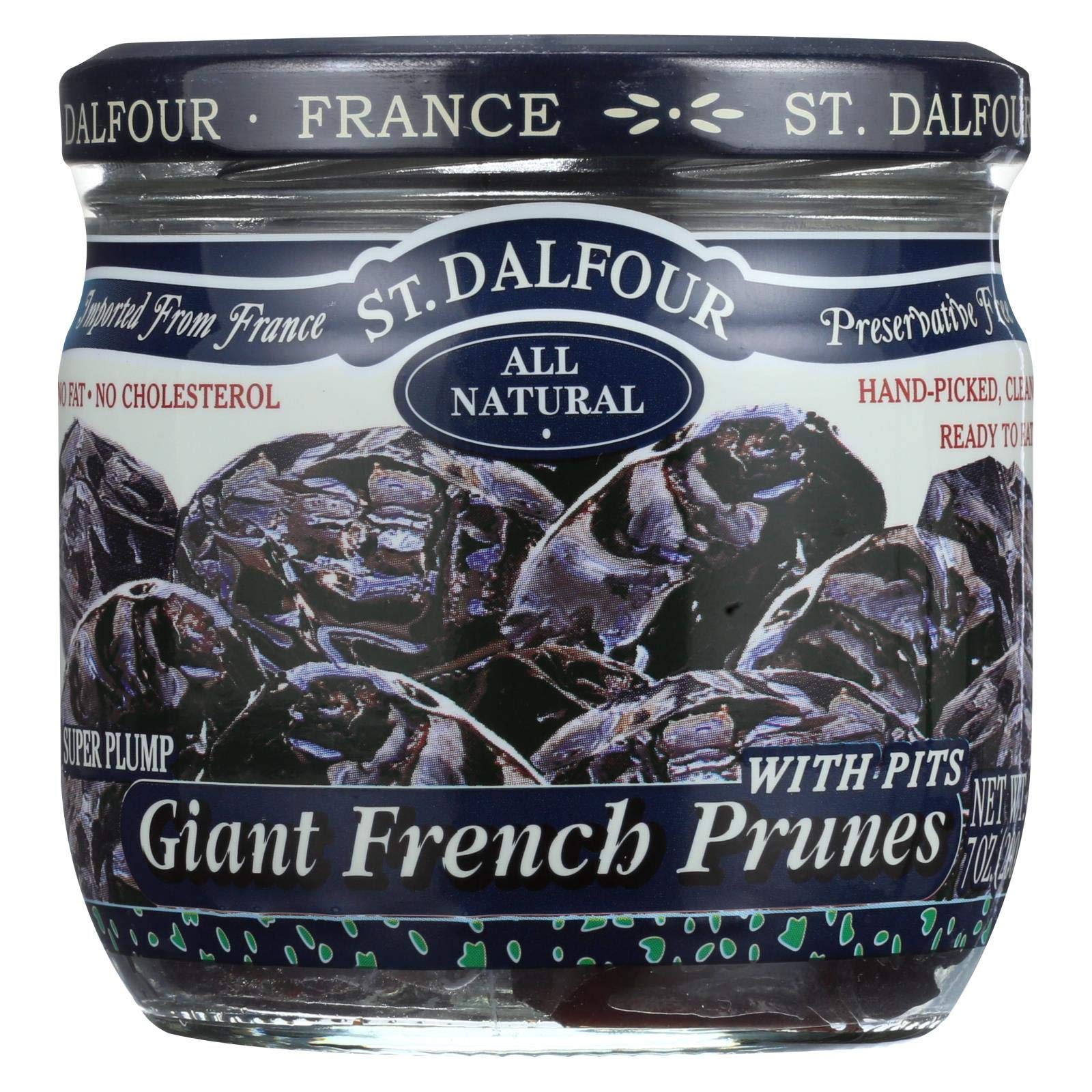 St Dalfour Prunes - French - Giant - With Pits - 7 oz - Case of 6 by St. Dalfour