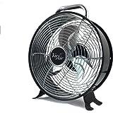 Vie Air High Velocity Powerful and Quiet Dual Speed Sleek Design Durable Metal Drum Fan,