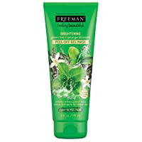 Freeman Brightening Peel Off Gel Facial Mask, Pore Refining and Brightening Beauty Face Mask with Green Tea, Orange Blossom, and Vitamin C, 6 oz