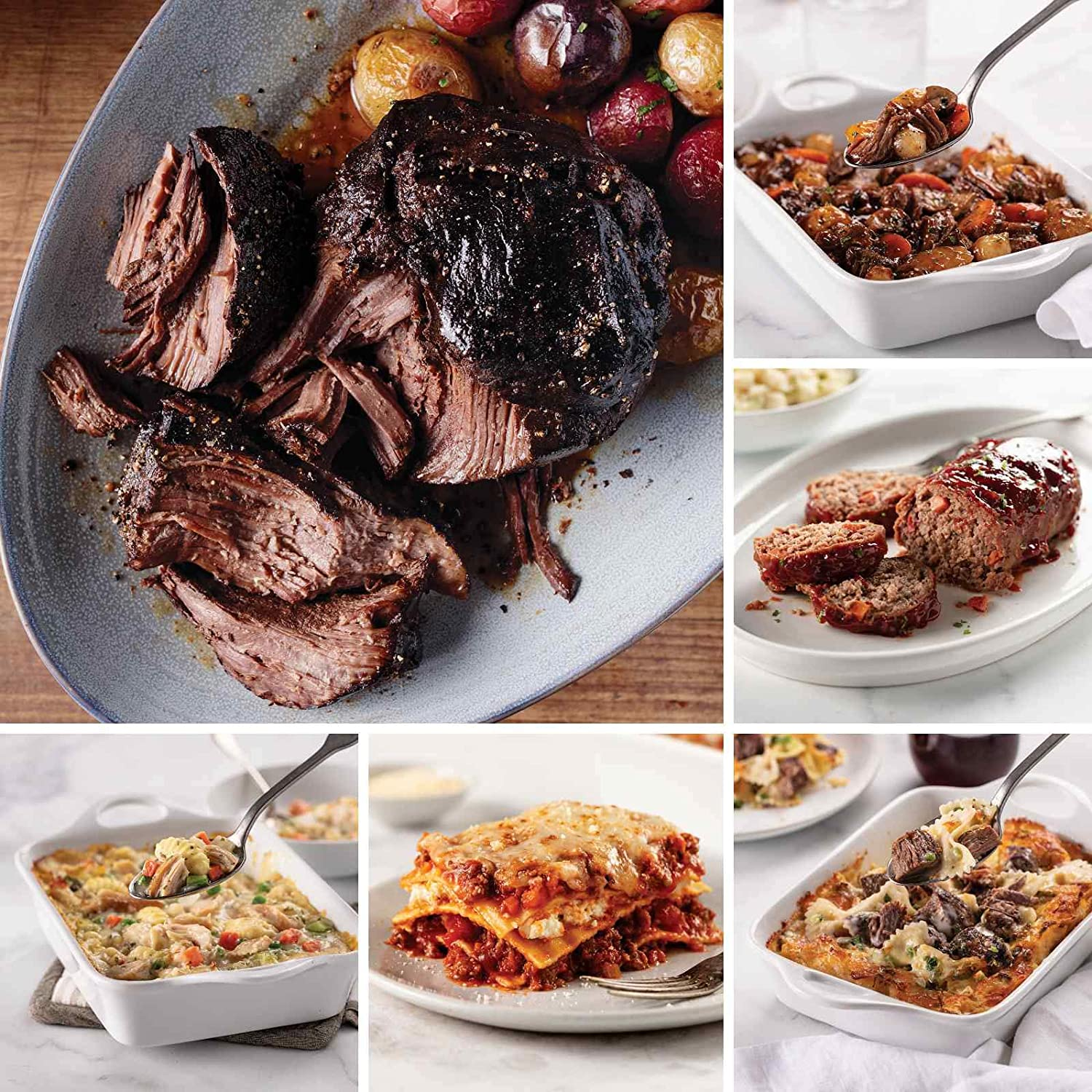 Ultimate Freezer-to-Oven Meal Assortment from Omaha Steaks (Fully Cooked Pot Roast, Baked Chicken & Dumplings, Meat Lover's Lasagna, Short Rib Mac & Cheese, Homestyle Meatloaf, and more)